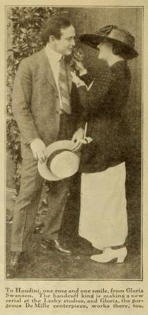 Houdini and Gloria Swanson Photo from Photoplay September 1919 p102