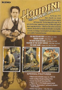 Houdini The Movie Star Back Cover