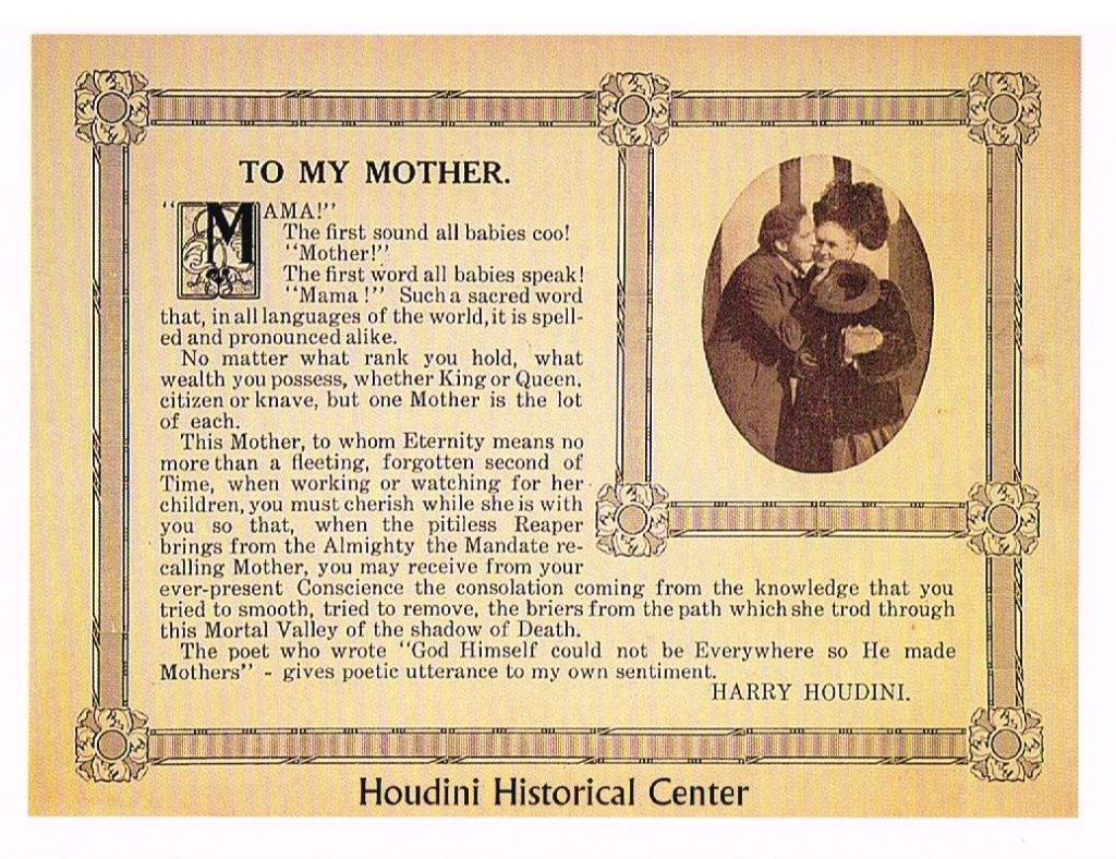 To My Mother from Houdini 1914 001