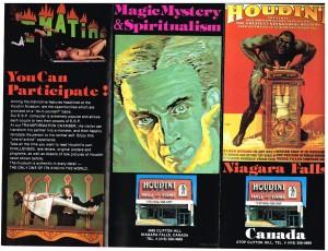 Houdini Museum 1980 Brochure