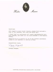 Houdini Museum Response Letter