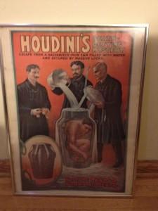 Houdini Museum Souvenir Milk Can Poster