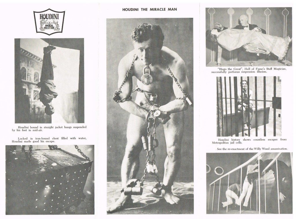 Original Houdini Museum Brochure (Back Side)