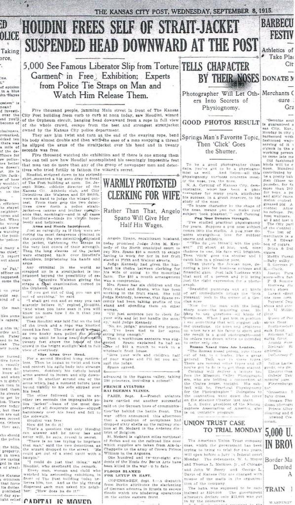 Kansas City Post Wednesday September 8 1915
