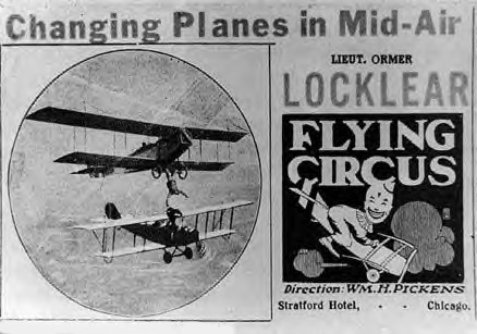 Ormer Locklear Flying Circus, 1919 Newspaper Ad