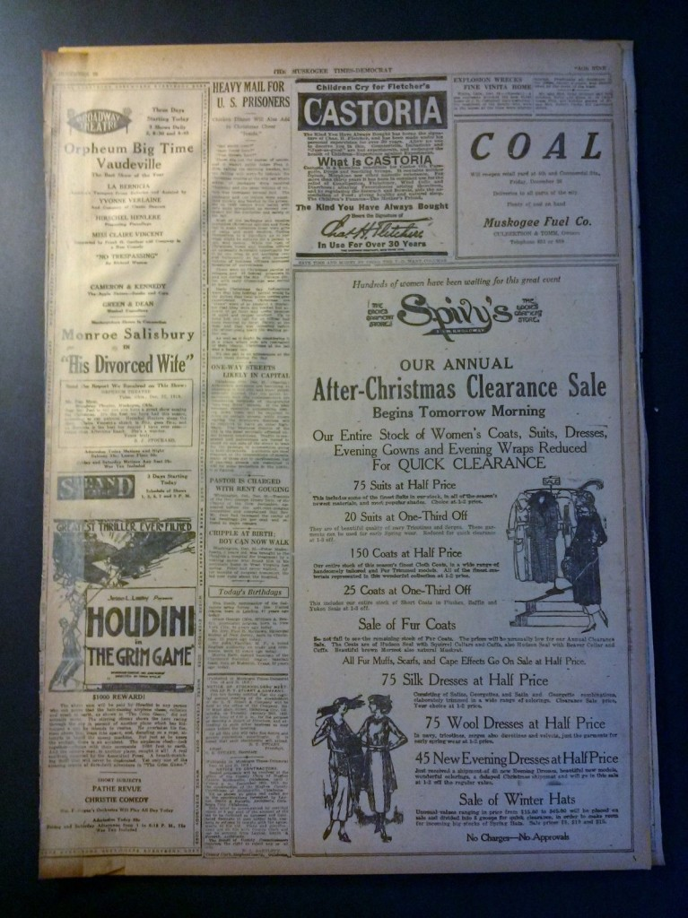 December 25 1919 GG Newpaper Page