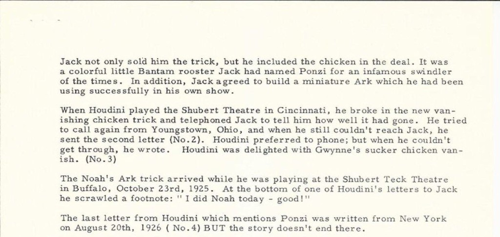 Jay Marshall Houdini Chicken 2A