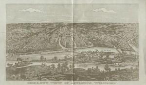 Appleton Wis Birdseye view 1874a
