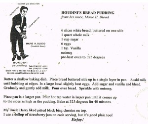 HH Bread Pudding Recipe
